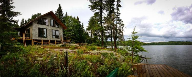 Whiskey Jack, the straw bale eco-cabin on High Lake.