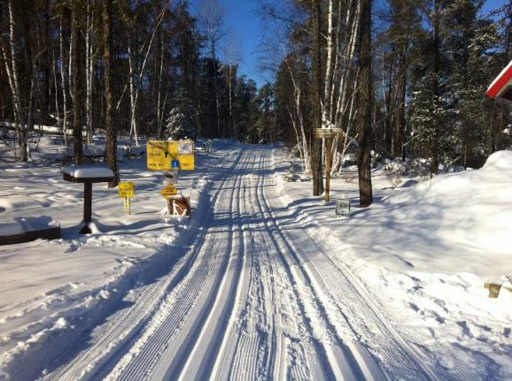 The Nite Hawk is a great starting point for cross-country skiing. Parking is provided to trail users courtesy of the Nite Hawk Cafe.