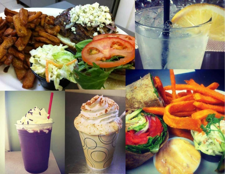 Just a few examples of the delicious food and beverages that the Nite Hawk Cafe serves.