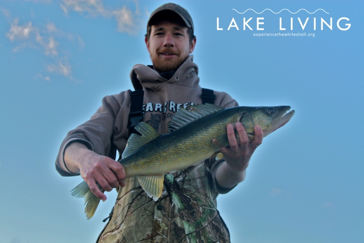 Jigging for walleye with Shield Outfitters.