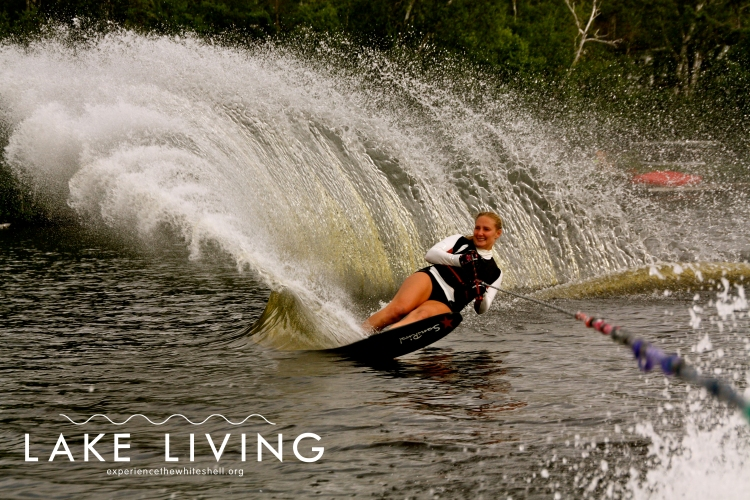 Professional water skier, Geena Krueger, began skiing in the Whiteshell - Photo by Marney Blunt.