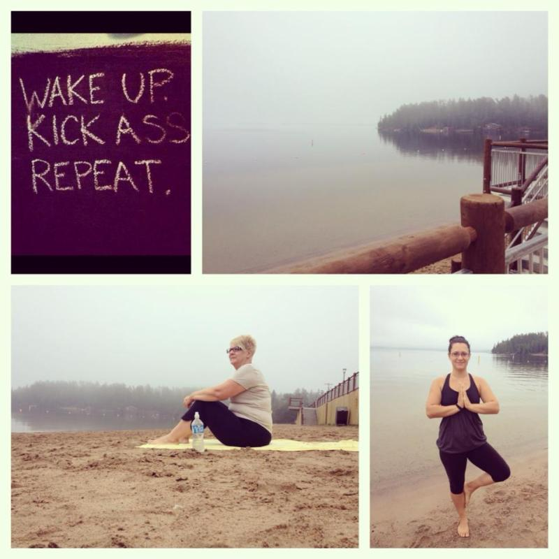 Start your day with yoga on the beach with South Moon Studio.