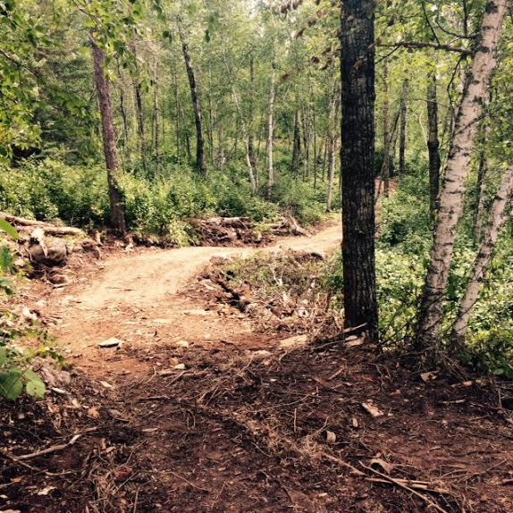 Construction underway for the Lost Lake Trail.